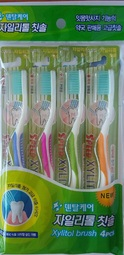 Toothbrush with xylitol, 3+1