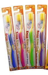 Toothbrush with nano gold
